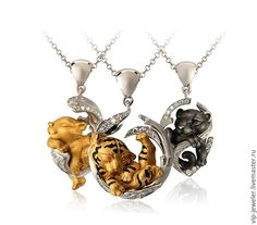Купить Кулон, серьги - Magerit - подвеска, кулон, золото, серебро, бренд, реплика