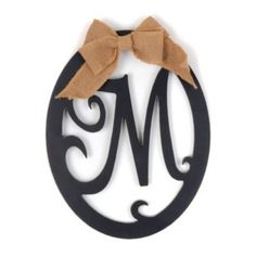 Wooden Monogram M Wall Plaque | Kirkland's
