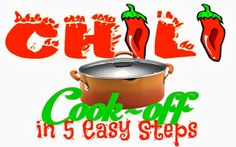 Did you know that February 25 is National Chili Day and October is National Chili Month? Celebrate by hosting a Chili Cook Off in 5 Easy Steps with printables National Chili Day, Chili Cook Off, Party Themes, Party Ideas, Soup Recipes, Helpful Hints, Good Food, Printables, Cooking