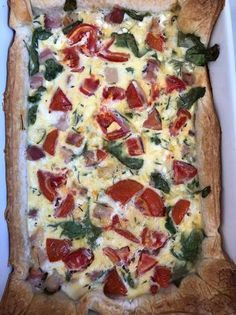 Spenótos quiche Quiche, Hawaiian Pizza, Vegetable Pizza, Food And Drink, Pie, Vegetables, Torte, Cake, Fruit Cakes