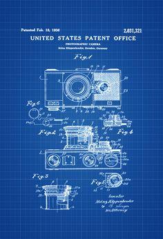 Photographic Camera Patent - Patent Print Wall Decor Photography Art Camera Art Old Camera Camera Decor (4.99 USD)