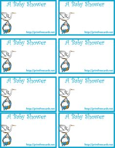 Printable Baby Shower Name Tags are now available for free. That's