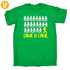 Same Is Lame Herren T-Shirt, Slogan Gr. Medium, Grün - Kelly Green - Shirts mit spruch (*Partner-Link)