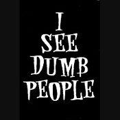 New Custom Screen Printed T-shirt I See Dumb People Humor Small