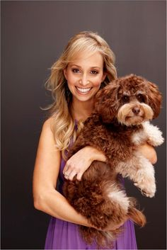 TV Bondi Vet's Dr Lisa Chimes and her doggie, Lucas.