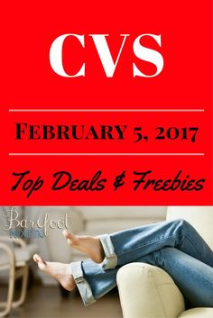 Here we go!!CVS Top Deals for week ofFebruary 5th, 2017! .. with CVS anytime is a great time to start with these CVS Top Deals, Freebies and money makers