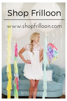 Big tassel balloons | party balloons @whitepeacockstyle #frilloons #bigballoons #tassels