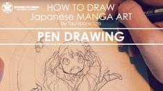 Pen Drawing * Main line #inktober2017   How to draw Manga Art 2017.10.28