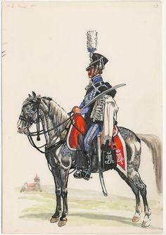 corazziere: Bavarese 2 ° Ussari, 1815, Georg Schafer