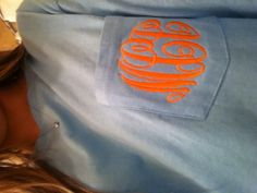 Monogram long sleeve shirt! I'm waiting for the call from Big Thursday that mine's ready to pick up!