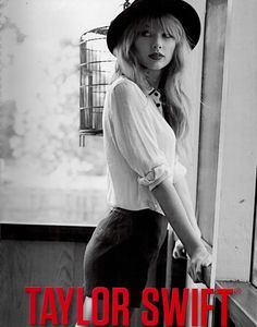 Taylor is chic with a hint of a smile. Could she be thinking about her beau Connor? //Big Machine Records on Ryan Seacrest  http://ryanseacrest.com/2012/10/12/taylor-swifts-new-photo-shoot-for-red-photos/#sg2