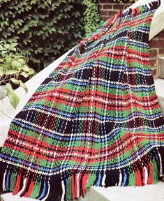 Vintage Plaid Crochet Afghan Pattern by PearlShoreCat on Etsy