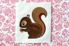 Squirrel Embroidery Design for Machine Embroidery 4x4. $3.99, via Etsy.