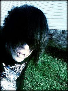 emo scene male boy cute black hair goth