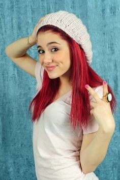 ariana grande red hair short hairstyles