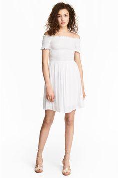 Smokkirypytetty mekko - Valkoinen - Ladies | H&M FI 1