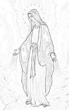Dia De Los Muertos Virgin Coloring Pages