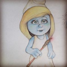 #drawing #smurfette #part1