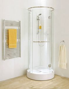 Small round shower