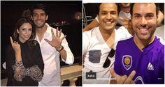 Namorado de Carol Celico ganha camisa de Kaká em 'inimigo' oculto