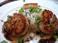 Pan-Grilled Sea Scallops