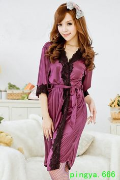 Hot Sleeping outfits for Modish Girls Attractive Colors (4) Bath Robes For  Women 008524d3b