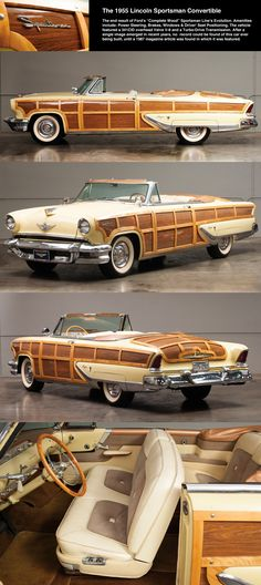 1955 Lincoln Capri SPORTSMAN Wood Paneled Convertible / Mystery solved.