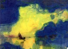 """The Sea at Dusk"", Emil Nolde."