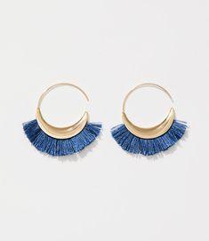 Color Swatch 4463Fringe Hoop Earrings