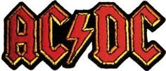 AC/DC Logo - full color Embroidered Patch *All Embroidered patches can either be sewn or ironed on