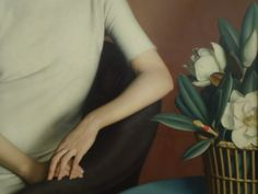 "jeanandbelmondo: Detail of ""Marguerite Kelsey"", by Meredith Frampton, 1928, at the Tate Modern, London."