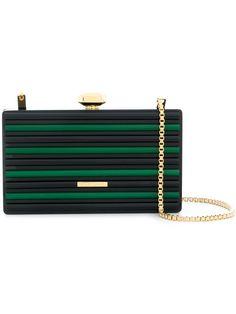 Shop Elie Saab colour block box clutch