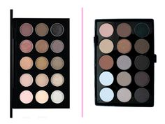 Paleta de sombras:  Paleta MAC Eye Shadow X15: Cool Neutral: R$ 299,00 no site da Sephora Paleta Lotus Makeup: R$ 59,90 no site da marca.