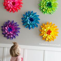 @craftaholicsanonymous made these gorgeous, bright Dahlia flowers.  So pretty!  We love Linda!  You will love her tutorials and ideas. #chickspicks #instabest #Padgram