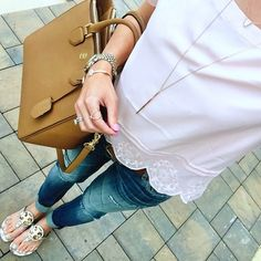 84c75f2a99abbe IG  mrscasual Nordstrom lace detail top. Vigoss tomboy skinny jeans. Tory  burch miller