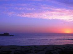 Punta de Tralca sunset, Chile