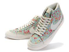 Nike Blazer Mid SB Liberty Womens Shoes - White/Blue/Red - Nike SB Shoes Online Store - Dunk SB, Blazer SB, Paul Rodriguez, Eric Koston, Stefan Janoski .