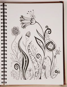 flower drawings abstract - Google Search                                                                                                                                                                                 More