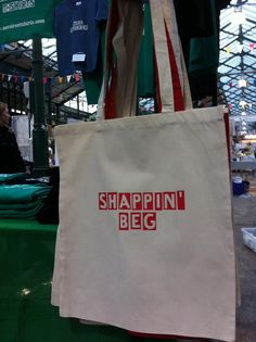 It's a shapppin' beg so it is! St Georges Market Belfast Northern Ireland
