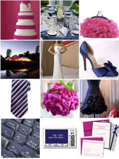 pink and navy inspiration via style me pretty