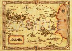 Narnia: Cool Maps of Fictional Literary Places - BOOK RIOT