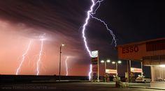 Thunderstorm in Regina Saskatchewan Canada. Picture taken by Greg Johnson the Tornado Hunter