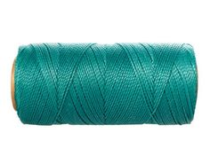 Turquoise Macrame Cord 15 meters/16 yards - Waxed Thread - Linhasita Cord for Jewelry: