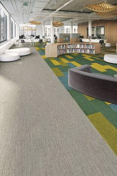Color Balance modular carpet integrates rich texture and color into a near-solid plank to create a palette of endless possibilities. Carpet Diy, Shaw Carpet, Blue Carpet, Modern Carpet, Carpet Tiles, Carpet Colors, Carpet Flooring, Orange Carpet, Outdoor Carpet
