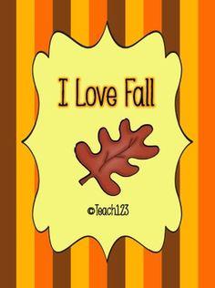 FREE Fall themed centers:  I love Fall!