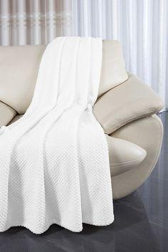 Narzuta biała na kanapę i fotele komplet