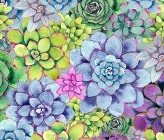 Succulove fabric by gabbymalpas on Spoonflower - custom fabric
