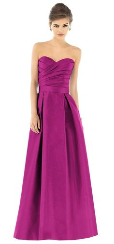 Alfred Sung Magenta Floor Length Bridesmaid Dress, Style # D537, 625 - Watermelon, $220 via Weddington Way