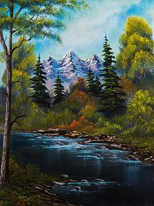 Bob Ross Painting - Fisherman's Retreat by C Steele