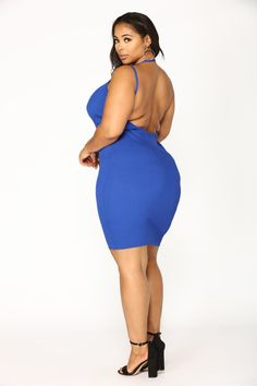 Available In Off White And Royal Ribbed Backless Midi Dress Rayon Nylon Plus Dresses, Plus Size Model, Stunningly Beautiful, Looking Gorgeous, Gorgeous Women, Beautiful Outfits, Plus Size Outfits, Cold Shoulder Dress, Bodycon Dress